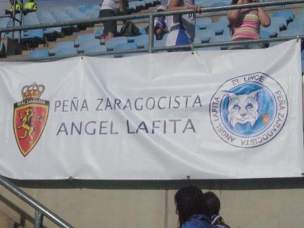 Pancarta Peña Lafita en Getafe