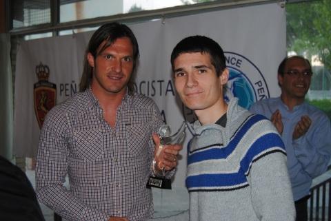 Lanzaro Trofeo Lince 2012 con Nestor. Foto: Federación de Peñas RZ