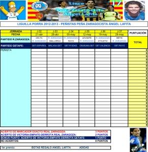 LIGUILLA-PORRA PZ LAFITA 2012-2013