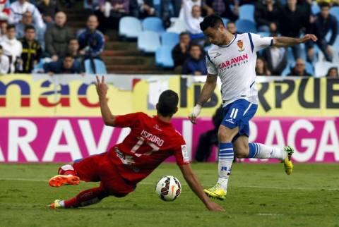 Jaime remata a gol. Foto: Periódico de Aragón